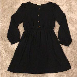 Everly Black Long Sleeve Dress